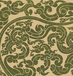 Green art pattern vector