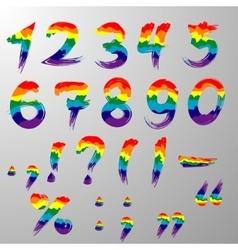 Hakuna Matata rainbow numbers vector image
