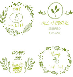 Hand drawn labels and elements collection for vector