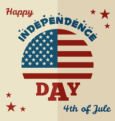 Happy Independence Day flat design vector image