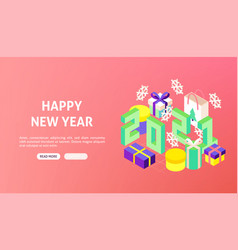 happy new year 2021 banner vector image