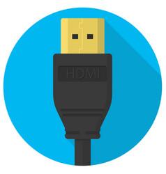 Hdmi cable plug icon vector