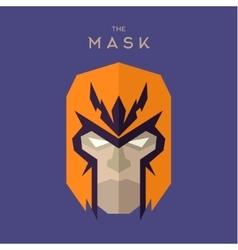 Hero Mask superhero head face flat style graphics vector