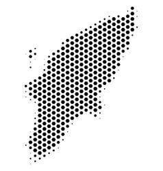 Hex-tile greek rhodes island map vector