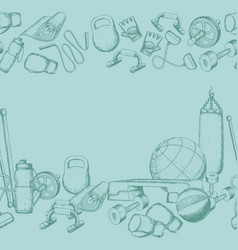 home gym equipment vector image