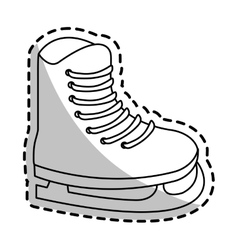 Isolated ice skate of Winter sport design vector