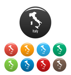 italy map in black set simple vector image