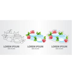 logo cosmetic cream contour logo stroke logo vector image