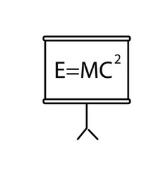 Mass energy equivalence icon vector