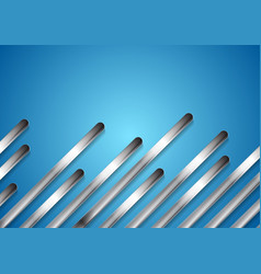 metal diagonal stripes on bright blue background vector image