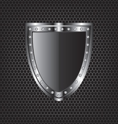 Metal textures and shield vector image