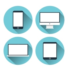 Modern electronic devices Icon set vector image