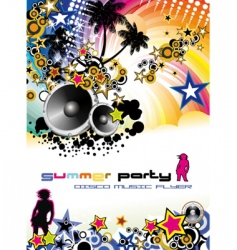 music event discotheque Dj flyer vector image vector image