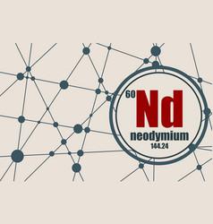 neodymium chemical element vector image