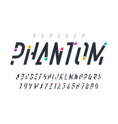 Original trendy display font design alphabet vector