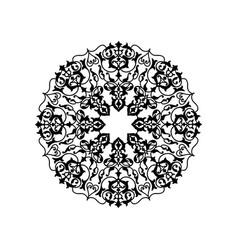 ornamental round floral pattern mandala oriental vector image