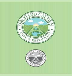 Park orchard garden logo restaurant cafe vector