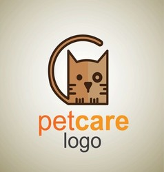 pet care logo 10 vector image
