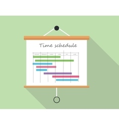 Project time schedule vector