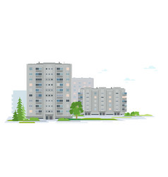 residential neighborhood of eastern european city vector image