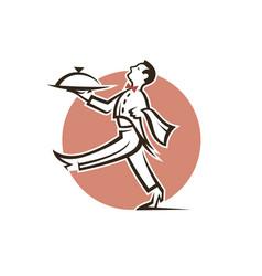 restaurant waiter icon vector image