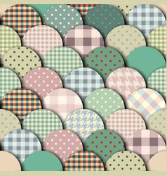 rhombuses patchwork pattern vector image
