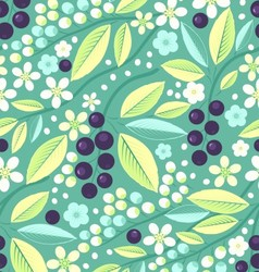 Seamless fruit pattern with blackcurrant vector image