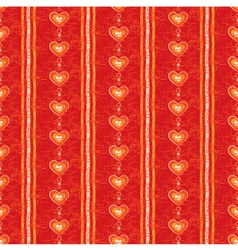 Seamless Red Heart Background vector image