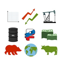 Set for business graphics set to infographics icon vector