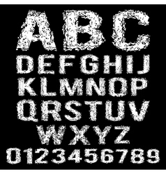 set of broken white alphabet vector image