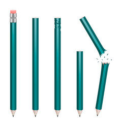 Set of pencil in different states vector
