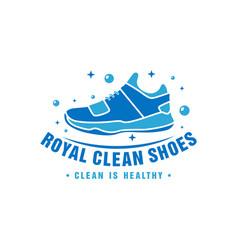shoe laundry logo design vector image