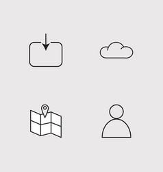 Sosial media outline icons set vector