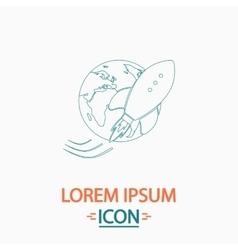 Space ship computer symbol vector
