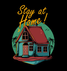 stay at home vector image