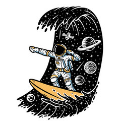 Surfing in space vector