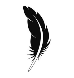 Tattoo feather icon simple style vector