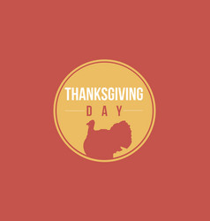 thanksgiving day background card style vector image