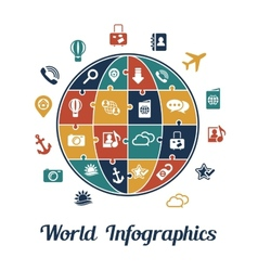 travel infographics concept vector image
