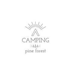 Vintage mountain expedition camping badge outdoor vector image