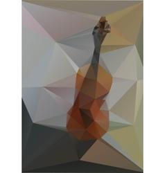 Violin geometry of triangles on a gray background vector image