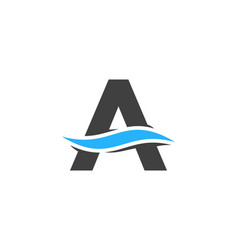 wave letter a logo icon design vector image