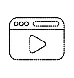 web page player button internet media vector image