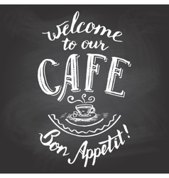 Welcome to our cafe chalkboard printable vector image