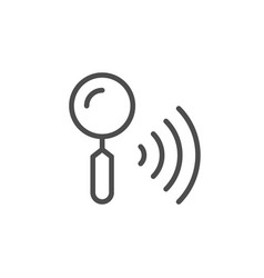 wi-fi search line outline icon vector image
