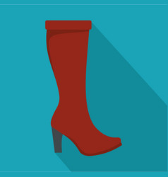 woman boots icon flat vector image