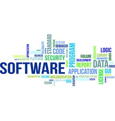 word cloud software vector image