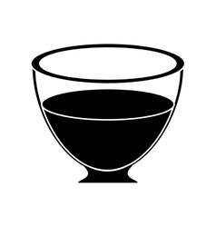 glass cup tea fresh pictogram vector image