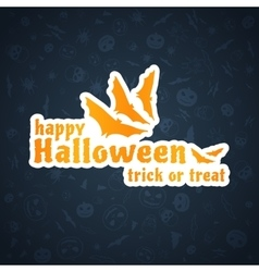 Halloween Background Abstract Blue Pattern vector image vector image