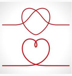 knot heart shape icon logo design vector image vector image